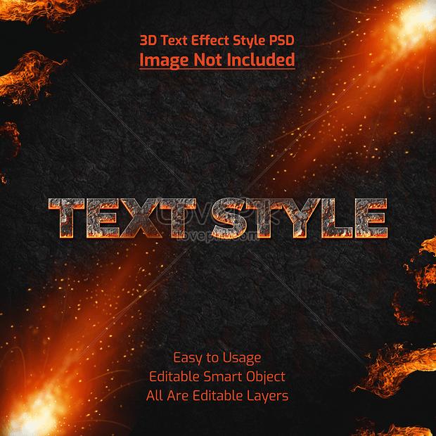 cool text font effect design
