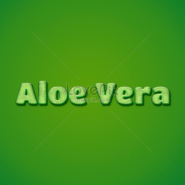 aloe vera 3d text font effect design