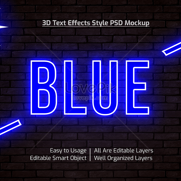 3d modern blue font effect design