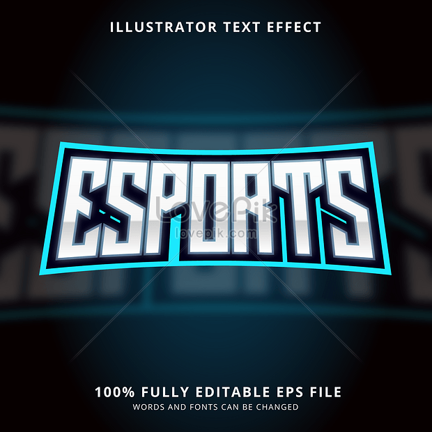 stylish light e sports gaming font effect design