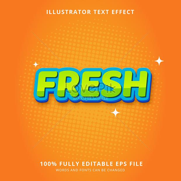 orange shining fresh font effect design