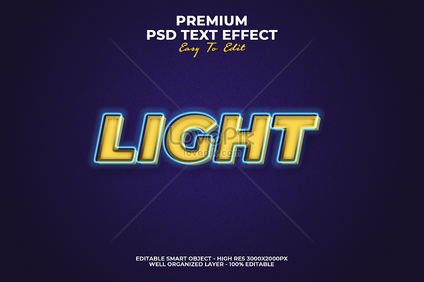 light text style font effect design