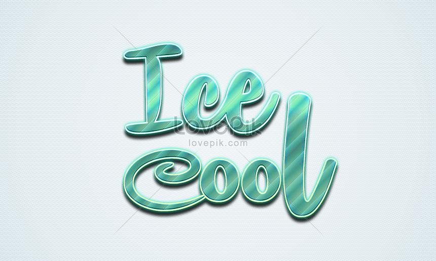 ice cool font effect design