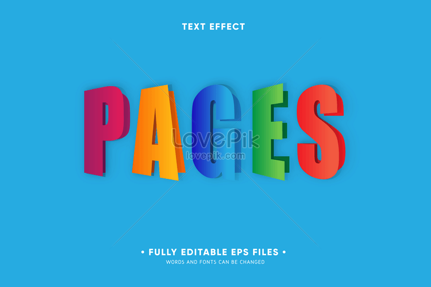 colorful page font effect design
