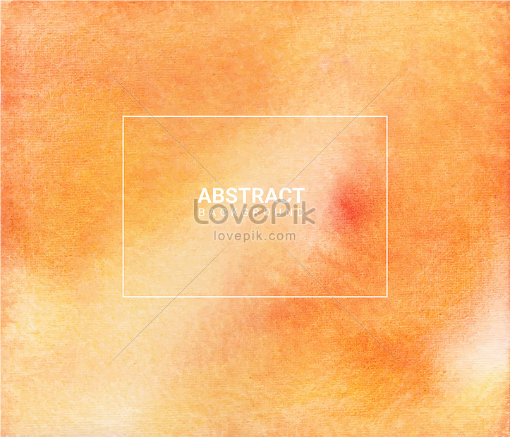 simple orange abstract watercolor texture background
