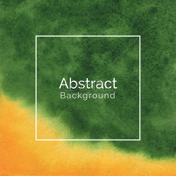 abstract green and yellow watercolor texture background