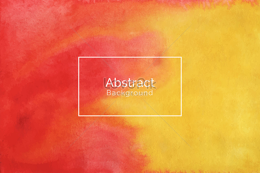 abstract red and yellow watercolor texture background