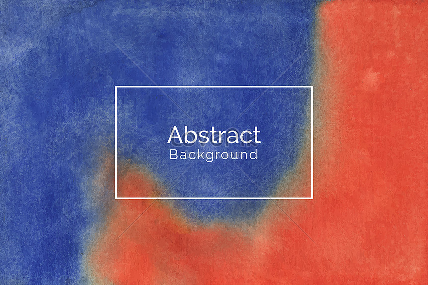 hand painted red and blue watercolor texture background