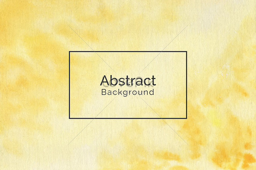 modern hand painted yellow watercolor texture background