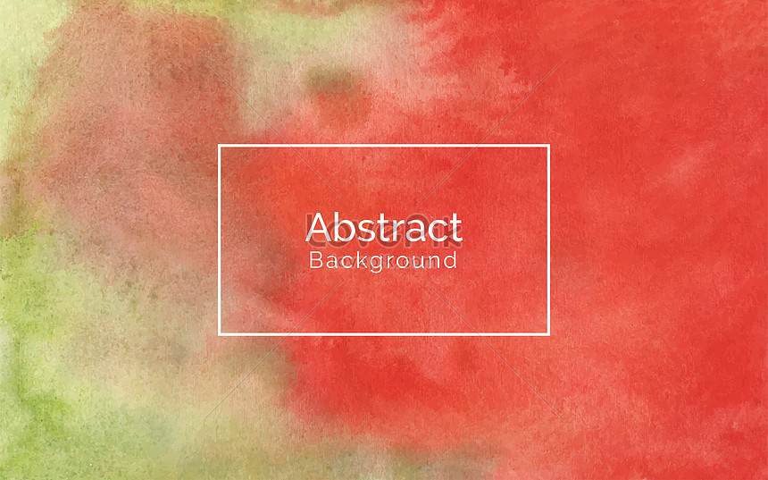 hand painted red and soft green watercolor texture background