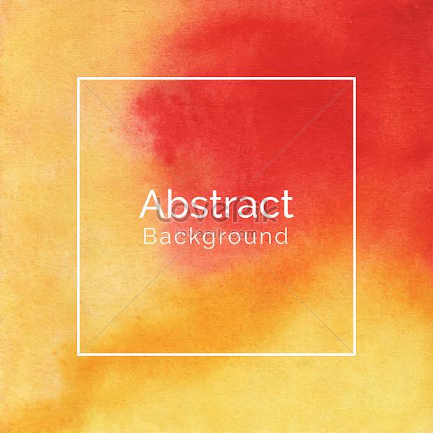 creative abstract red and yellow watercolor texture background