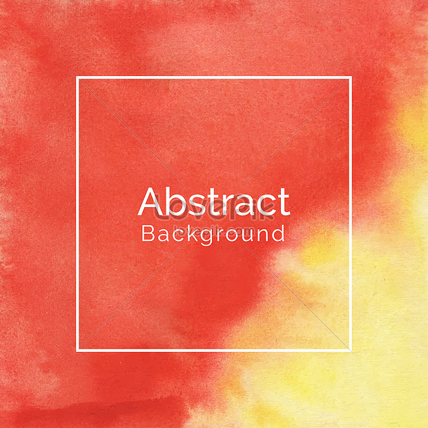 abstract creative red and yellow watercolor texture background