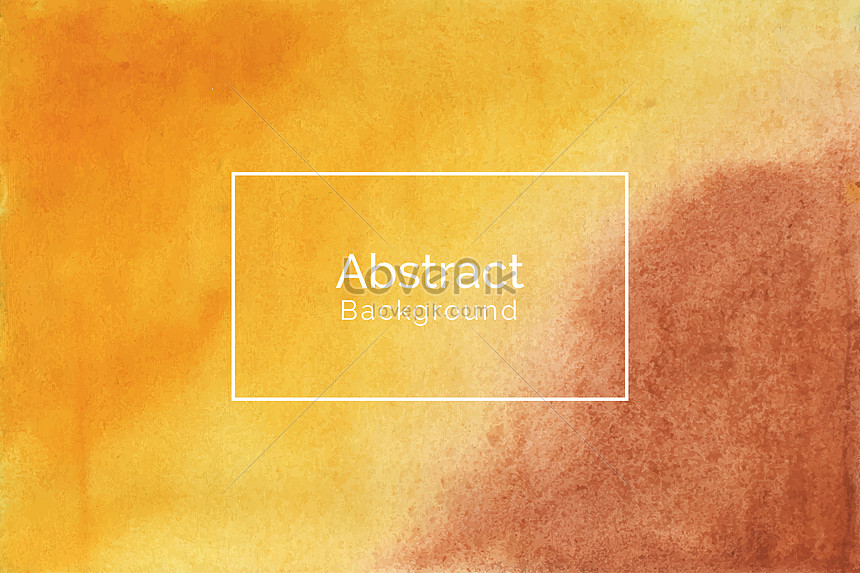 hand painted yellow and brown watercolor texture background