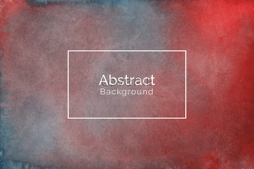 abstract hand painted red and blue watercolor texture background