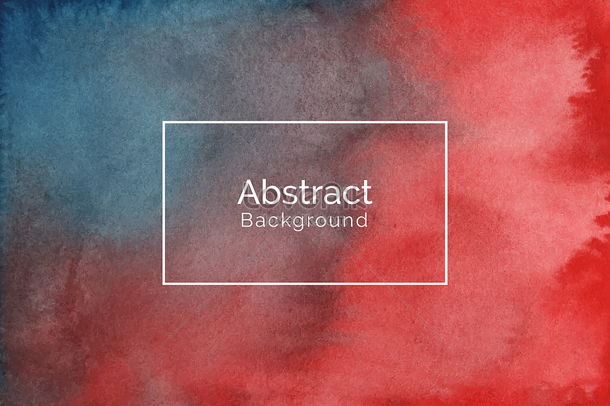 creative hand painted red and blue watercolor texture background