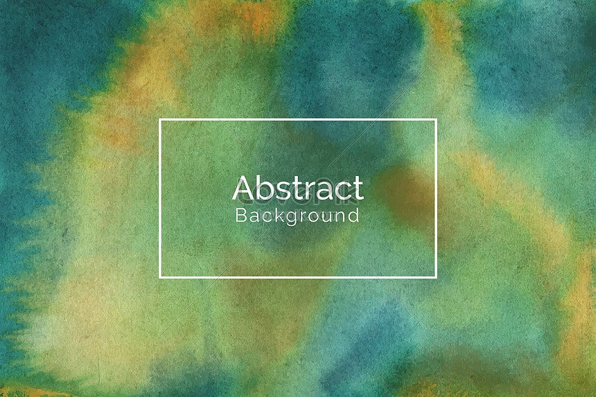 abstract retro green and yellow watercolor design texture backgr