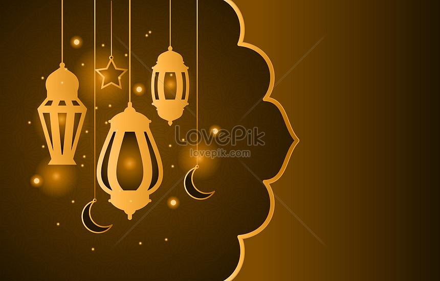 brown arabic lantern background