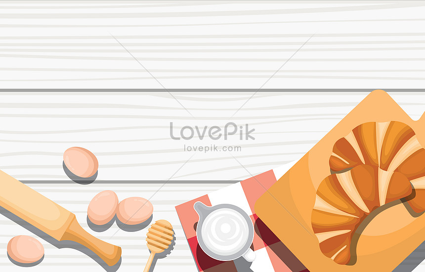 bread and utensil food on white wooden table
