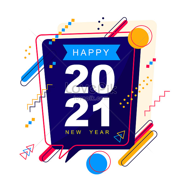 2021 happy new year holiday greeting card abstract background