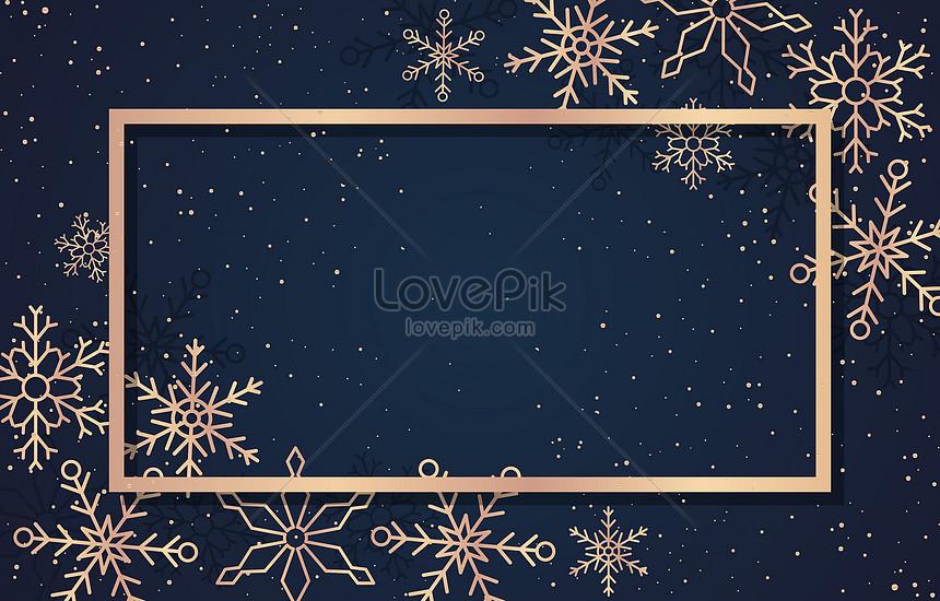 gold gorgeous snowflake frame background