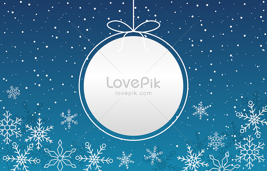 holiday greeting card with snowfball background