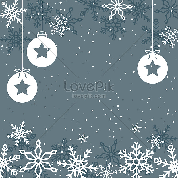 holiday greeting card with snowflake background