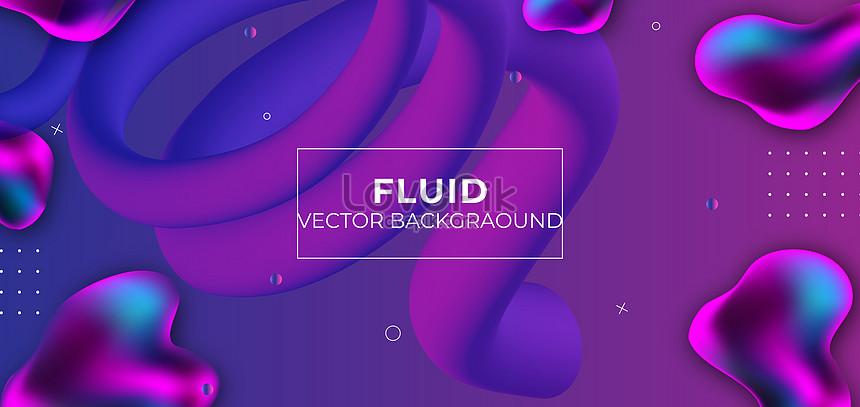 abstract purple gradient liquid banner background