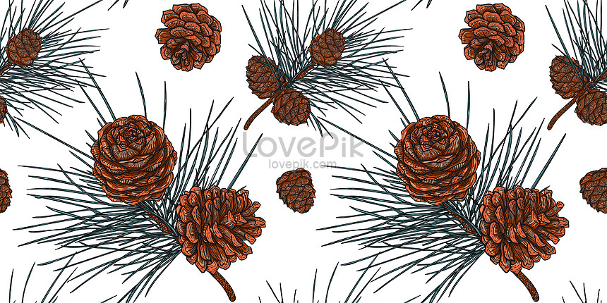gorgeous cedar branches with cones botanical background