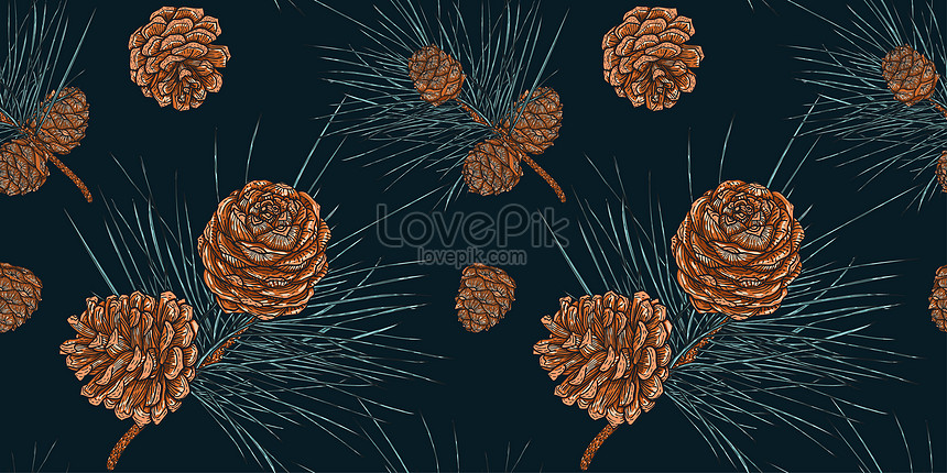 seamless pattern of christmas cedar branches