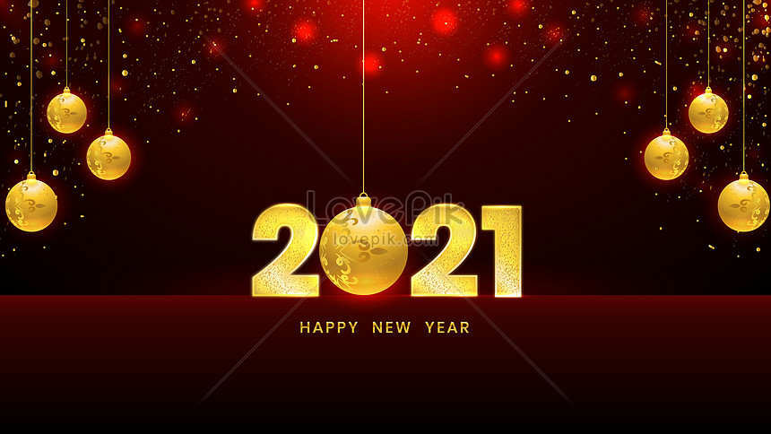 luxury gold 2021 happy new year celebration