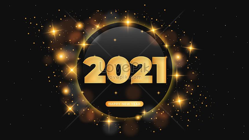 realistisch gouden 2021 teksteffect