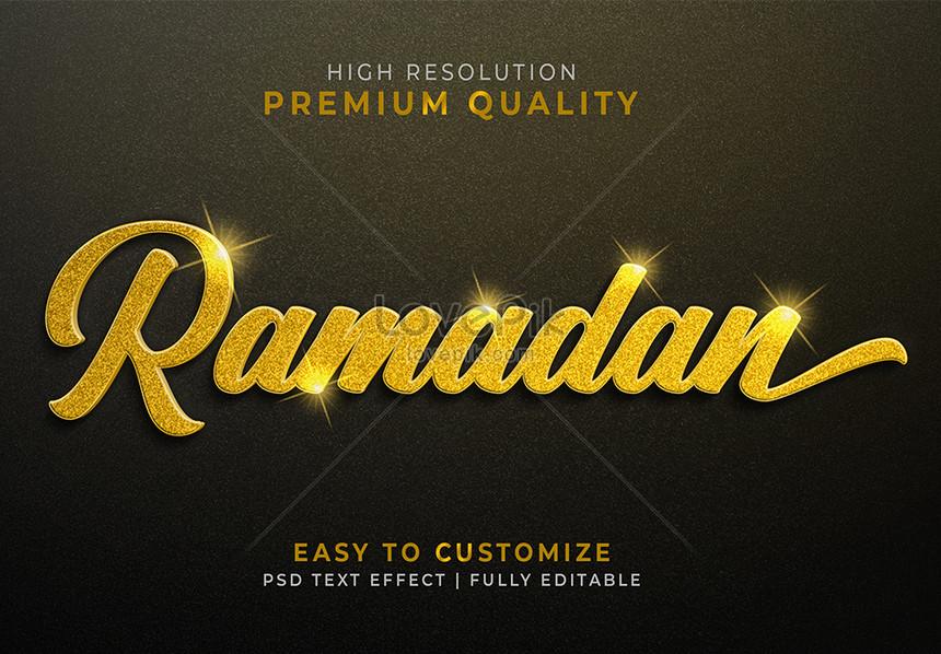 black ramadan 3d text style effect