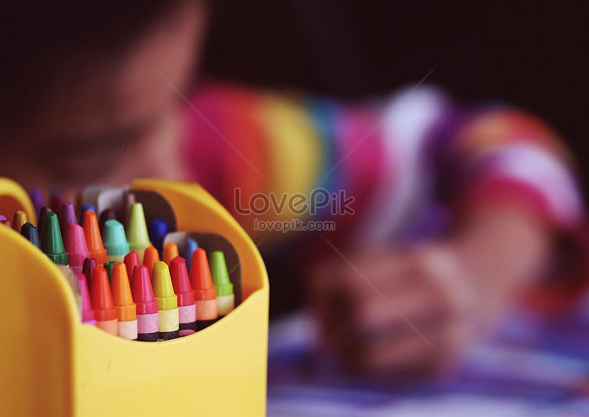 Một Hộp Bút Chì Màu Hình ảnh định Dạng Hình ảnh Jpg
