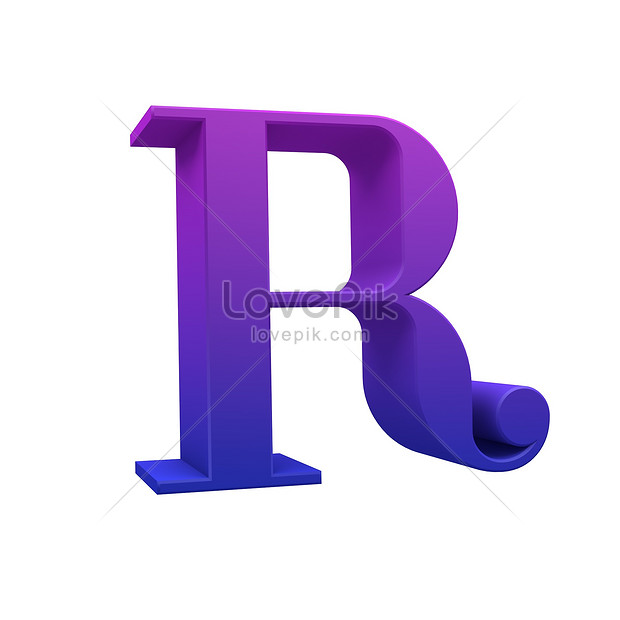 3d Abstract Letter R Photo Image Picture Free Download