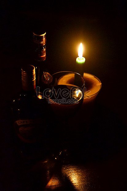 A Candle In A Dark Room Photo Image Picture Free Download