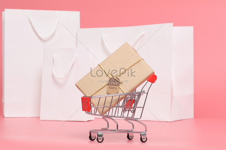 shopping cart shopping bag background