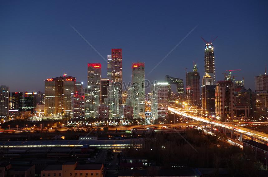 world trade night scene beijing night scene