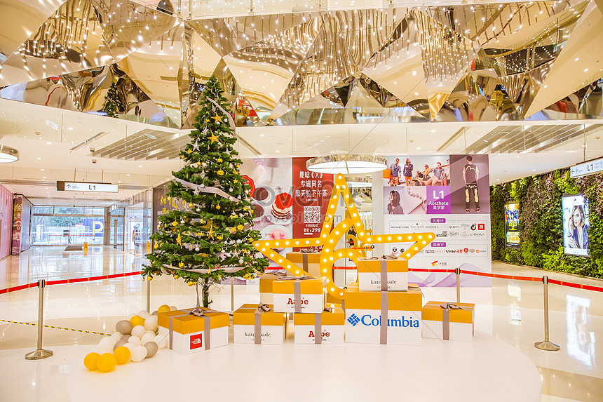 Shopping Malls And Beautiful Christmas Decorations Photo Image Picture Free Download 500217897 Lovepik Com