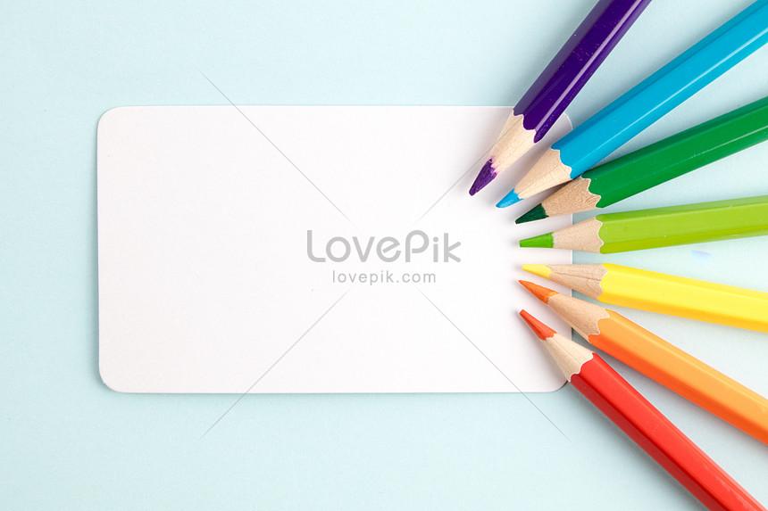 color pencil card color creation