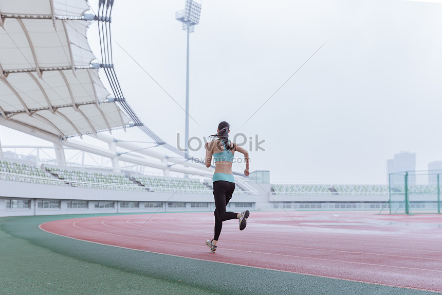 running on the playground of young women