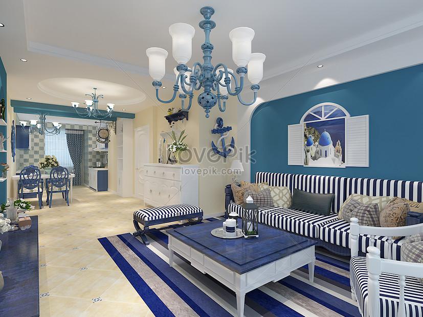 Photo de rendus de salon de style méditerranéen_Numéro de l ...