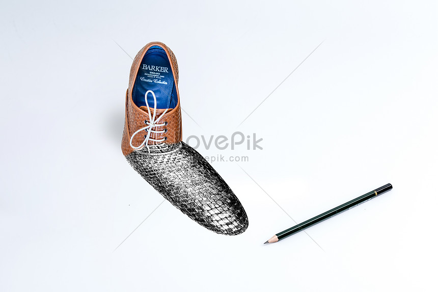 3d creativity of leather shoes in sketching creative