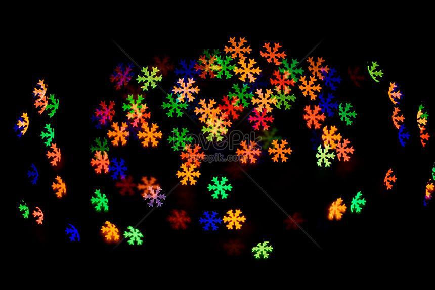 color snowflake light spot