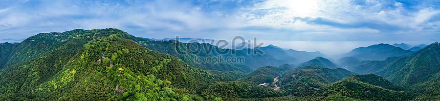 panoramic view of the mogan mountain