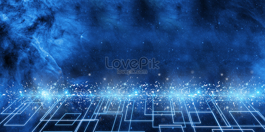 banner cool blue technology background