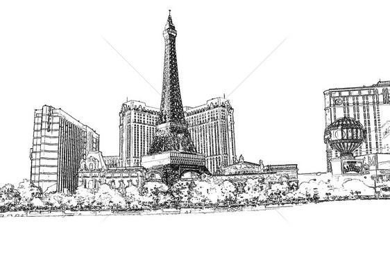 Sketsa Arsitektur Perkotaan Gambar Unduh Gratis Kreatif