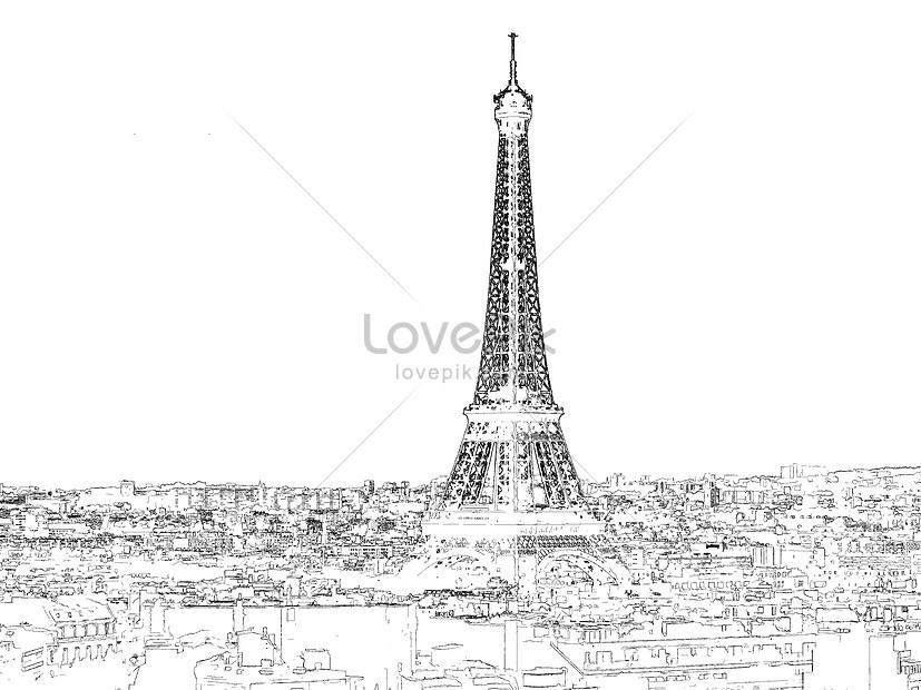 Menara Eiffel Di Paris Gambar Unduh Gratis Imej 500415498 Format Jpg My Lovepik Com