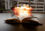 Magic book background creative image_picture free download