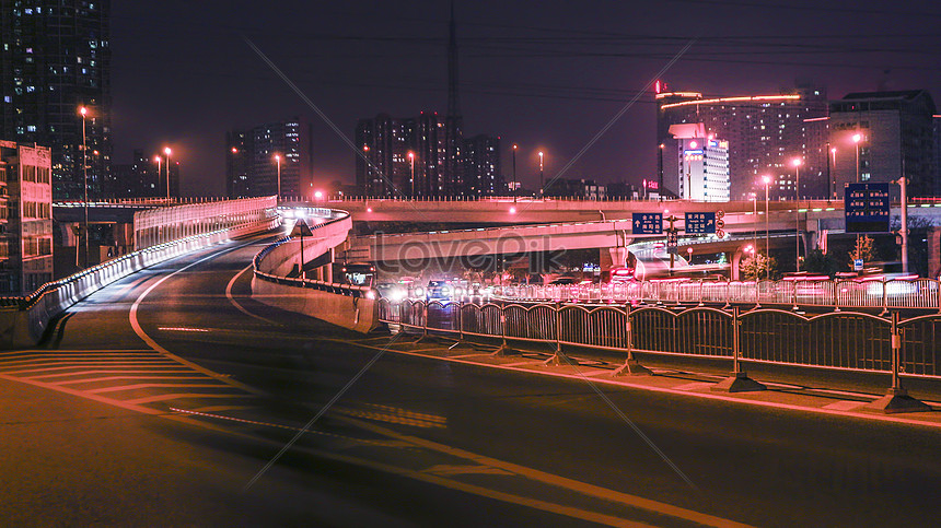 zhengzhou streetscape night view