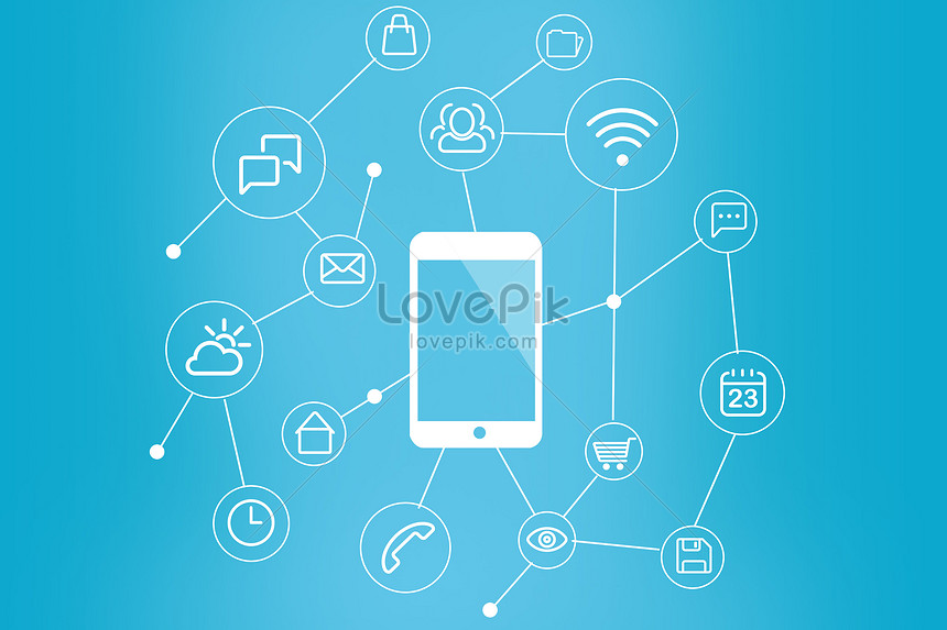 Mobile technology app icon backgrounds image_picture free